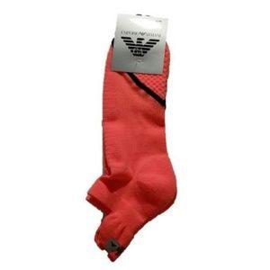 EMPORIO ARMANI Fluorescent Orange TRAINER Socks